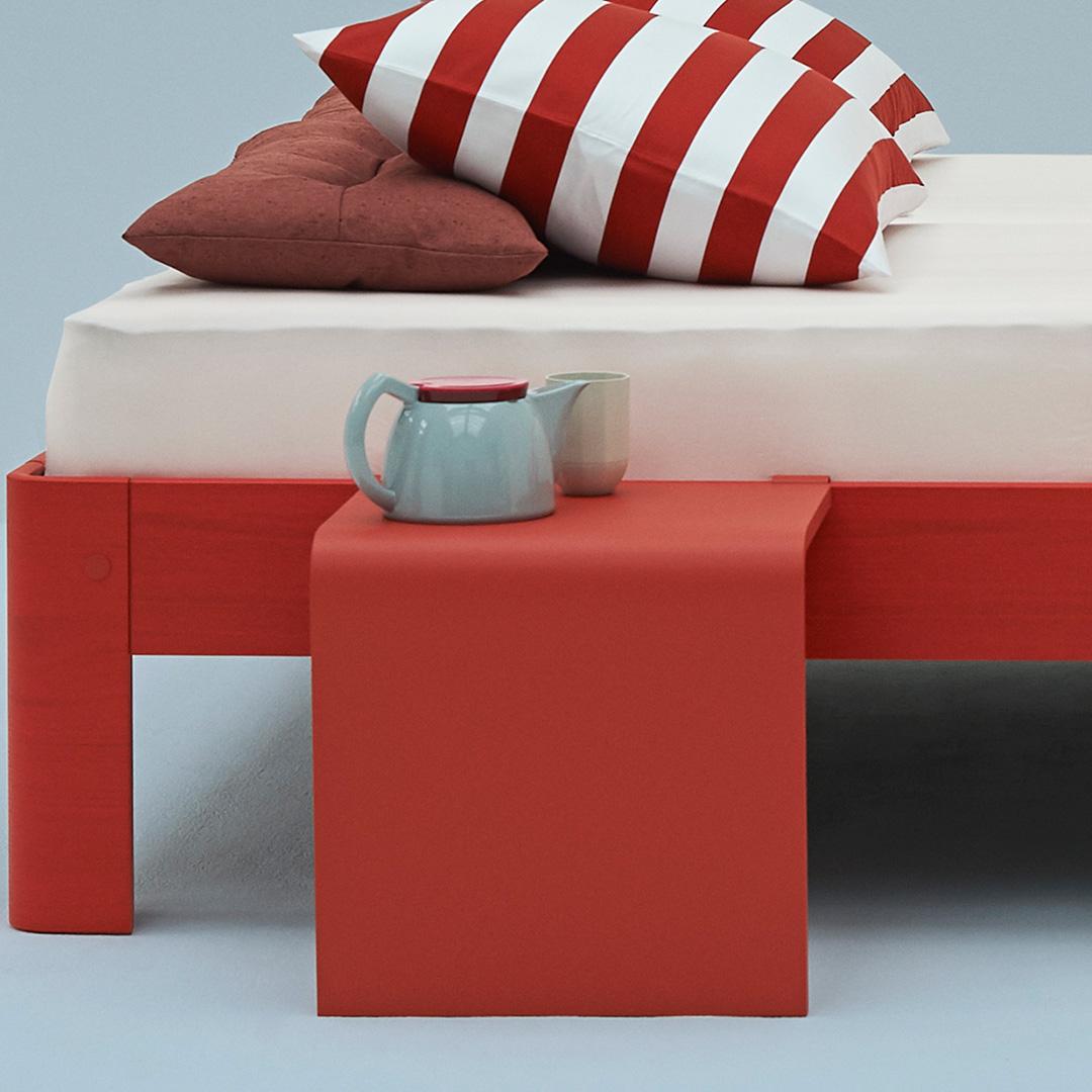 Billede af Auronde Sidebord 1500 Coral Red/Aluminium