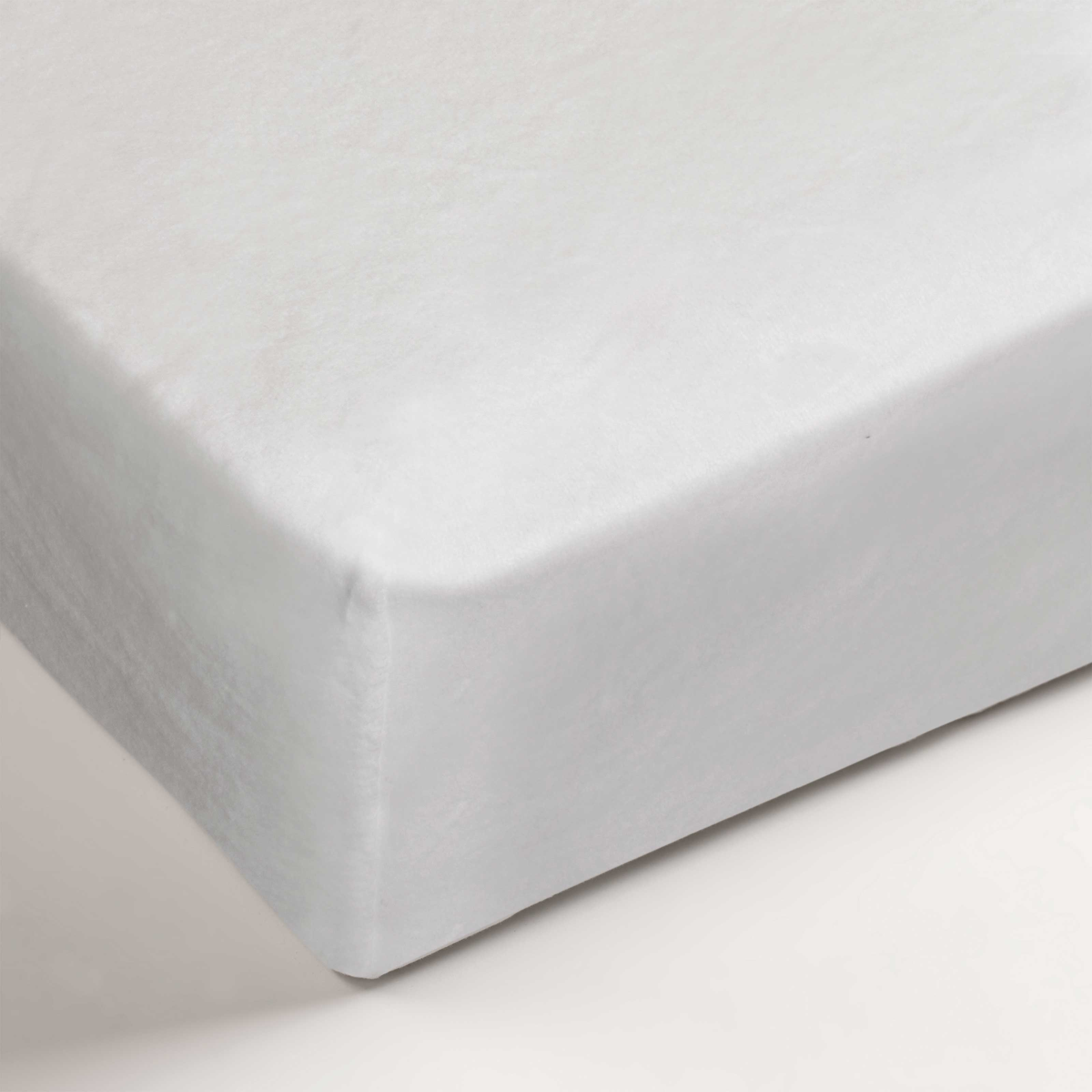 BH molton faconlagen 120x200/220x28 hvid thumbnail