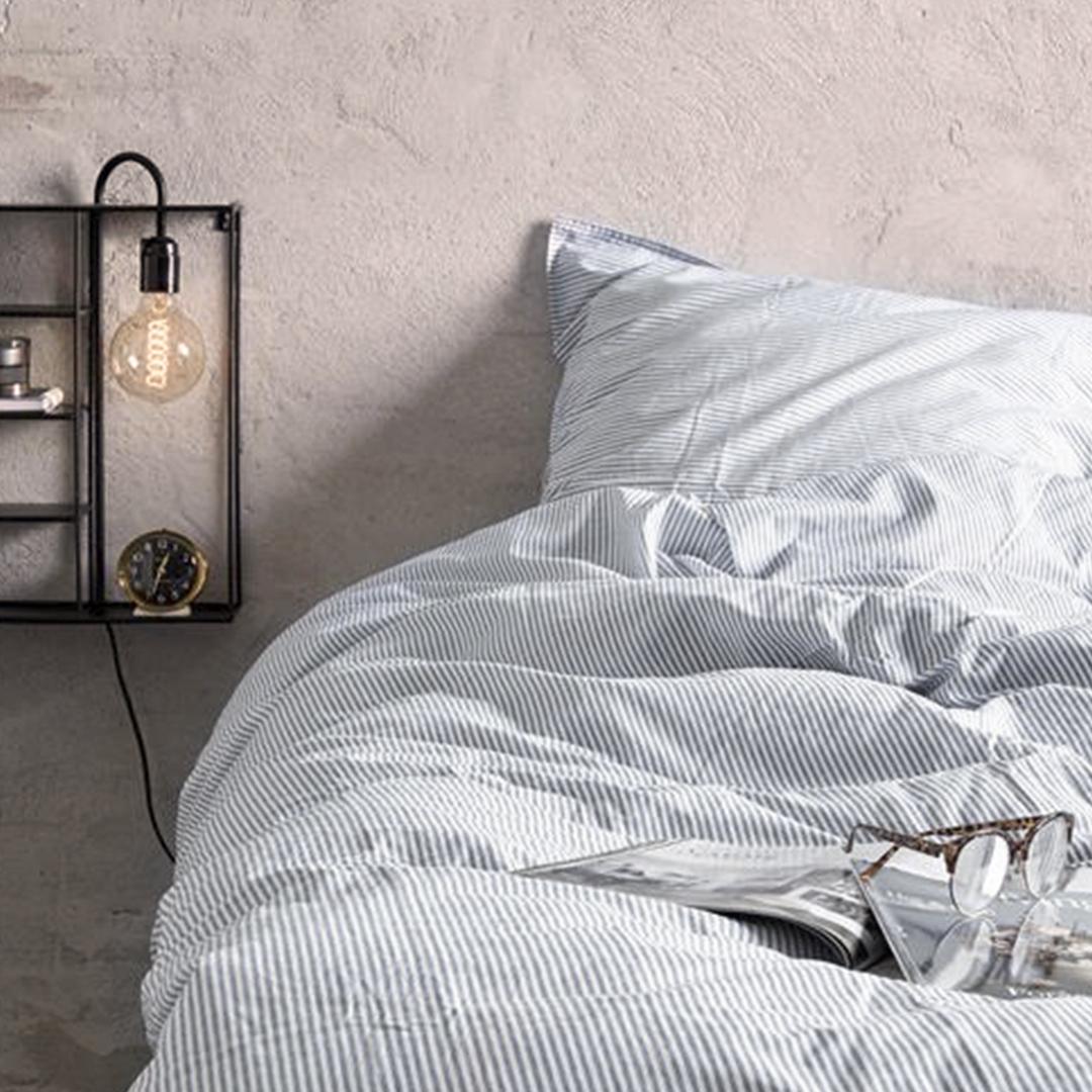 Image of   Borås sengelinned Cille 140x200/60x63 Gray