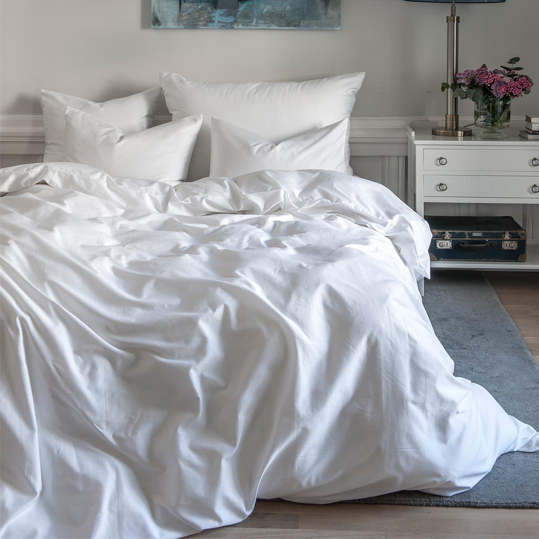 Køb Borås sengelinned Cloud White 140x200cm
