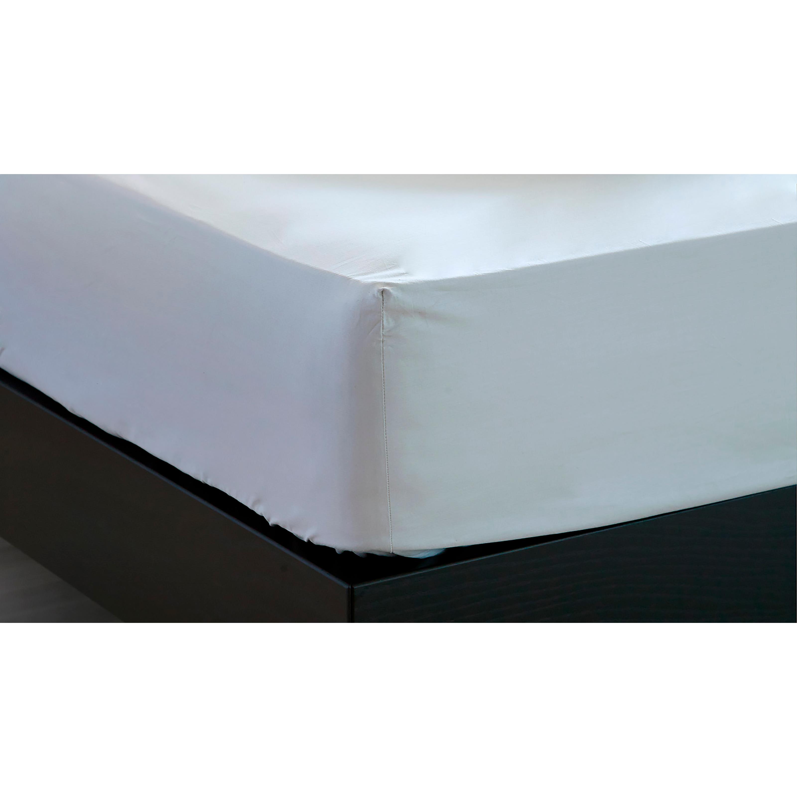 Image of   Unikka faconlagen 200x100x20 cm hvid/satin