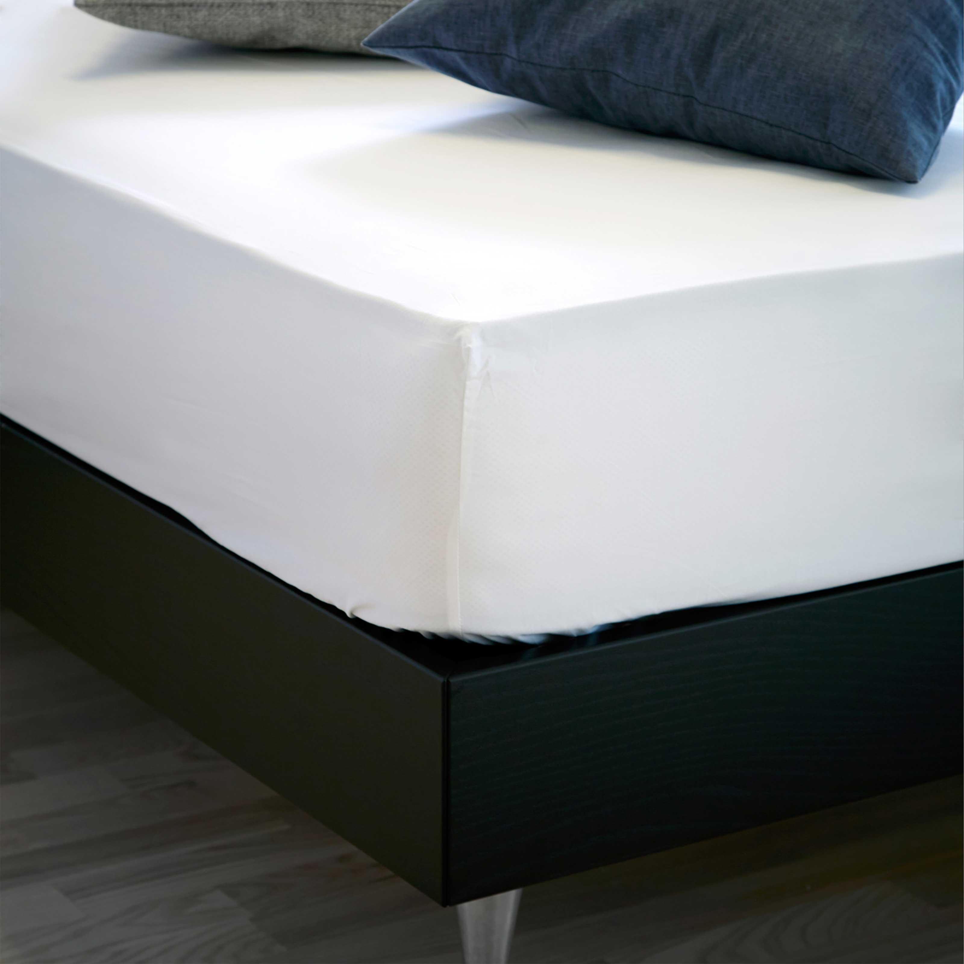 Image of   Unikka faconlagen 210x220x30 cm hvid/bomuld