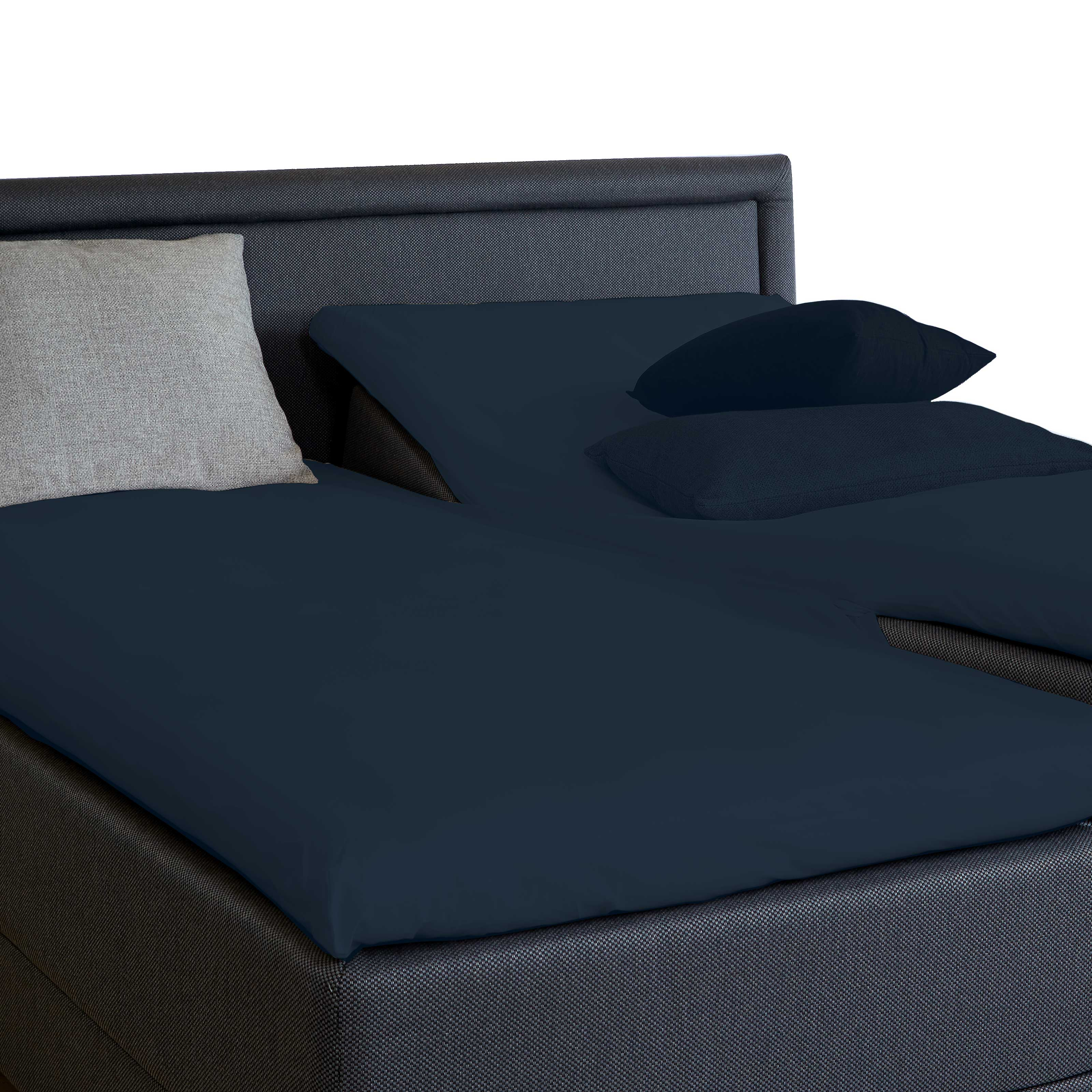 Image of   Unikka kuvertlagen H 180x210x10 cm mørkeblå/bomuld