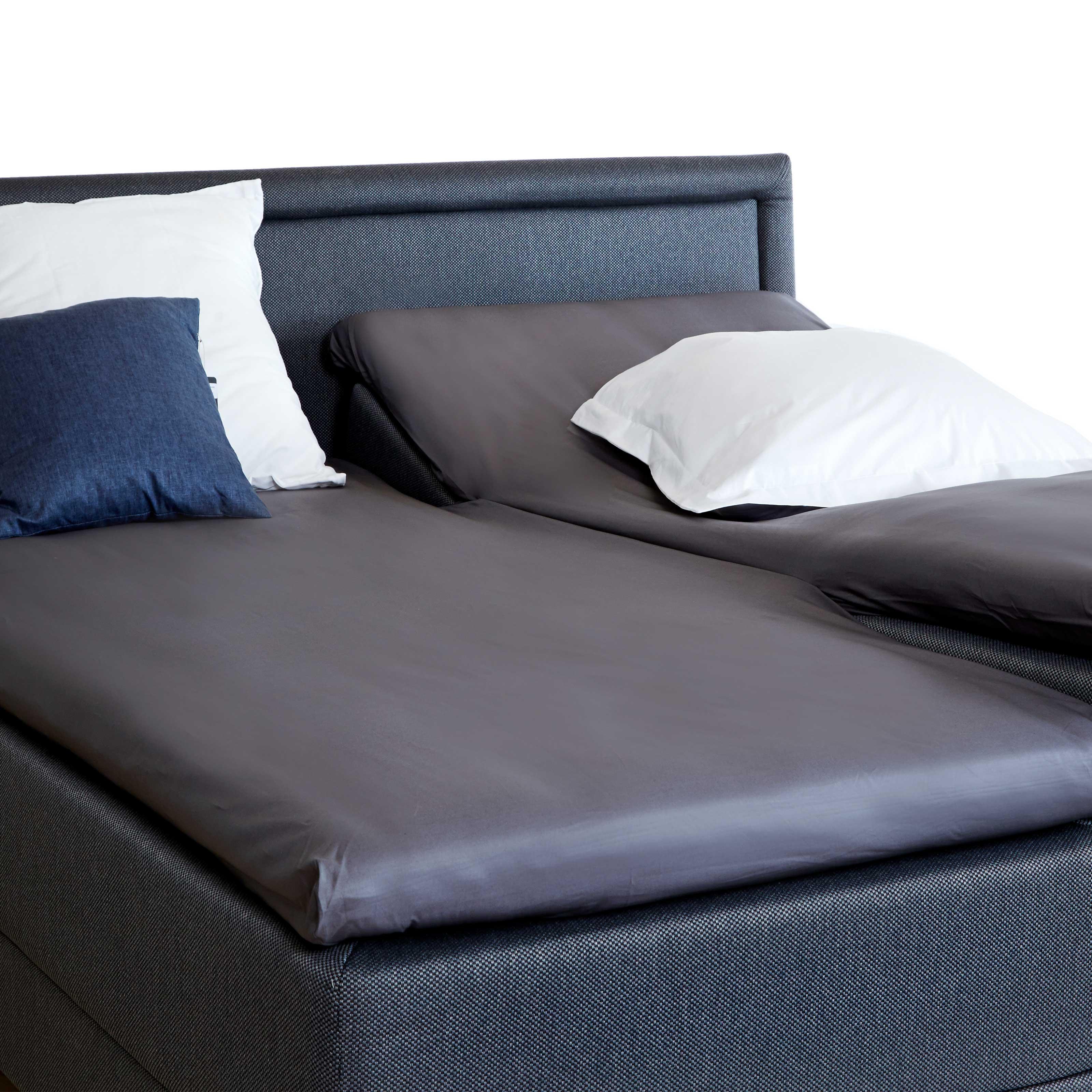 Image of   Unikka kuvertlagen H180x210x10 cm mørkegrå/bomuld