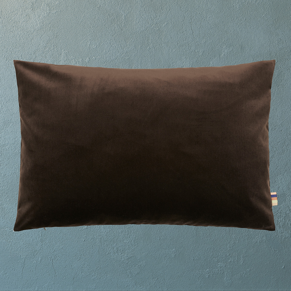 HMT Pyntepude m. fyld Ibi Velour 60x80cm Mørkbrun thumbnail