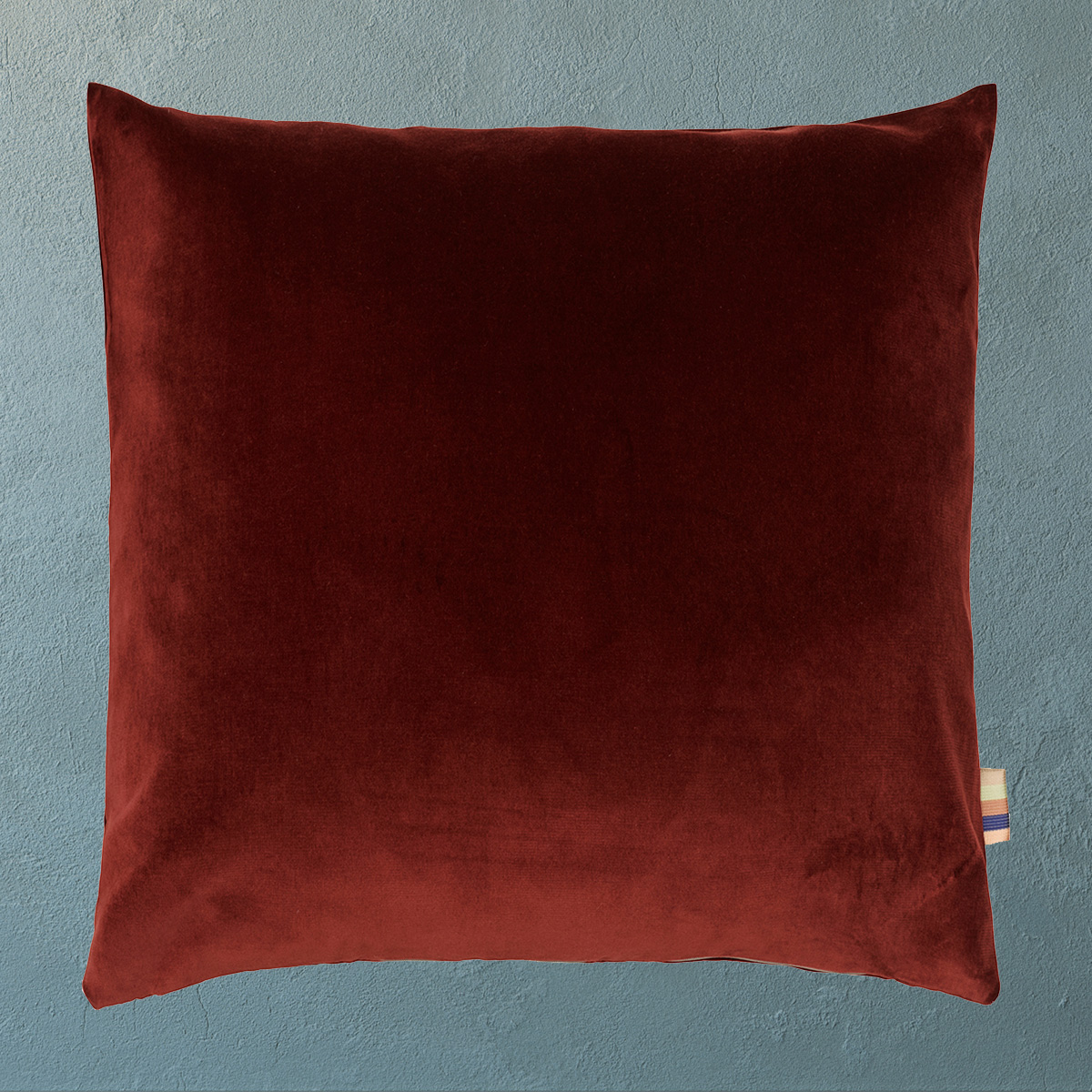 HMT Pyntepude m. fyld Leia Velour 40x40cm Bordeaux thumbnail