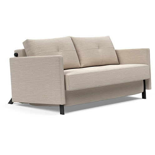 Køb Cubed with ams sovesofa 2 pers Blida Sand Grey