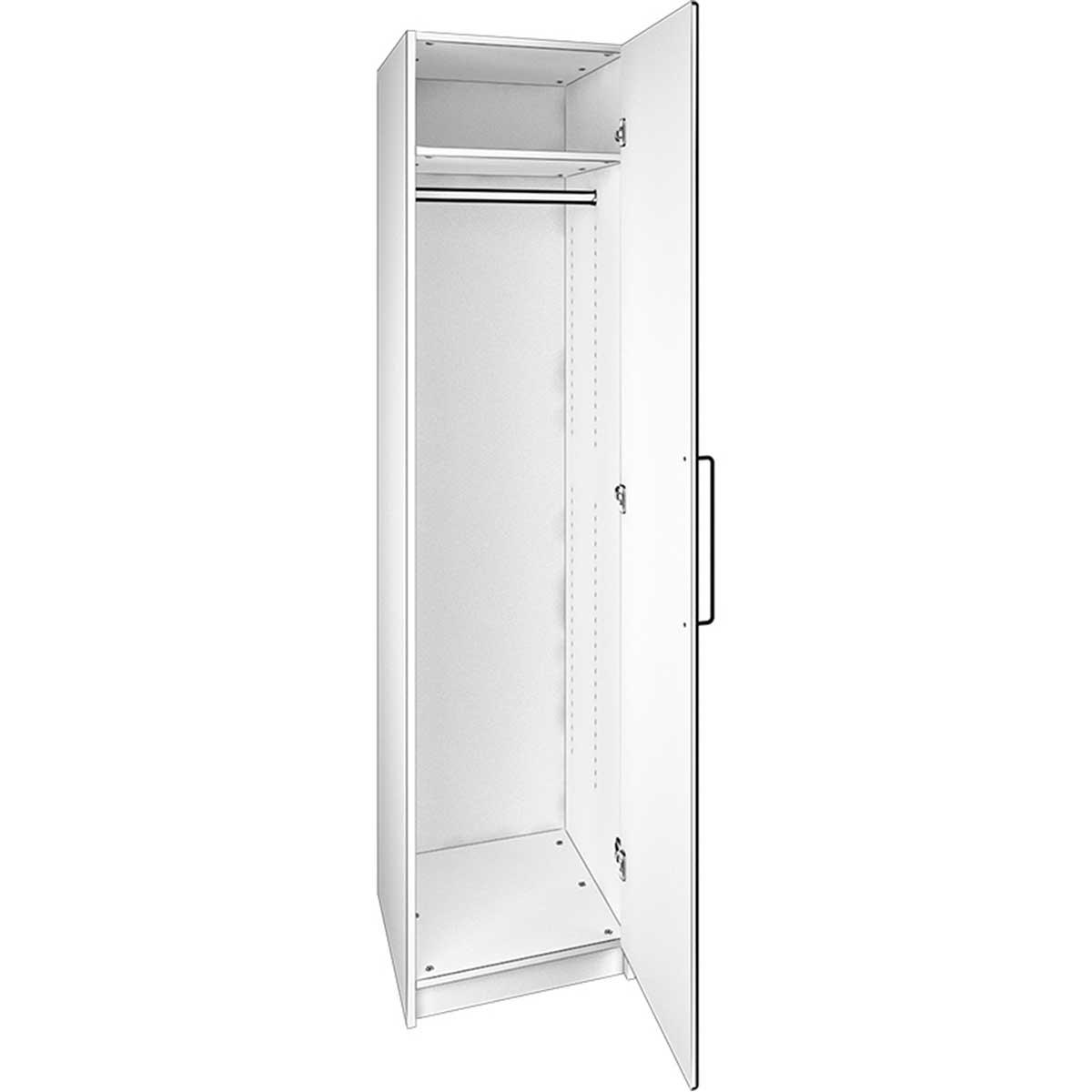 Køb Kaagaard Garderobeskab 1 lÃ¥ge 1052 52x190x62 hvid