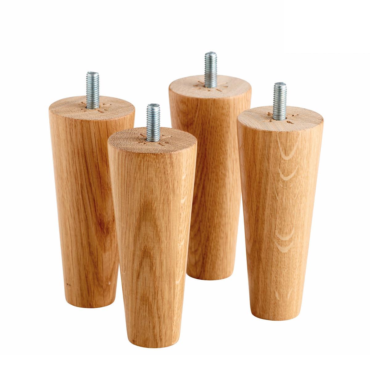 Køb Tempur ben 19cm rund træ Design Eg – 4 stk